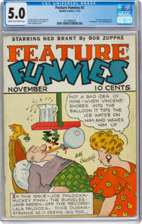 Feature Funnies #2 (Chesler, 1937) CGC VG/FN 5.0 Cream to off-white pages