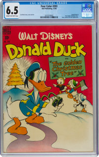 Four Color #203 Donald Duck (Dell, 1948) CGC FN+ 6.5 Cream to off-white pages
