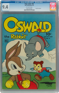 Four Color #67 Oswald the Rabbit (Dell, 1945) CGC NM 9.4 Off-white pages