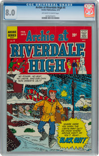 Archie at Riverdale High #5 (Archie, 1973) CGC VF 8.0 Off-white to white pages