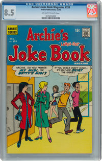 Archie's Joke Book Magazine #155 (Archie, 1970) CGC VF+ 8.5 Off-white to white pages