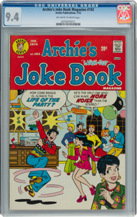 Archie's Joke Book Magazine #192 (Archie, 1974) CGC NM 9.4 Off-white to white pages