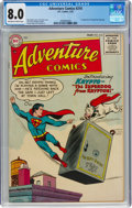 Golden Age (1938-1955):Superhero, Adventure Comics #210 (DC, 1955) CGC VF 8.0 Off-white to white pages....