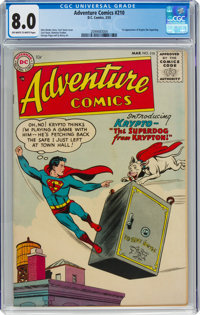Adventure Comics #210 (DC, 1955) CGC VF 8.0 Off-white to white pages