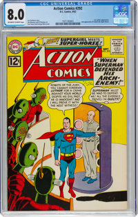 Action Comics #292 (DC, 1962) CGC VF 8.0 Off-white to white pages