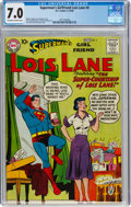 Silver Age (1956-1969):Superhero, Superman's Girlfriend Lois Lane #4 (DC, 1958) CGC FN/VF 7.0 Off-white to white pages....
