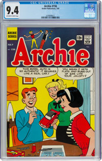 Archie Comics #156 (Archie, 1965) CGC NM 9.4 Off-white to white pages