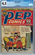 Golden Age (1938-1955):Humor, Pep Comics #77 (Archie, 1950) CGC VG+ 4.5 Off-white pages....