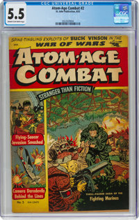 Atom-Age Combat #2 (St. John, 1952) CGC FN- 5.5 Cream to off-white pages