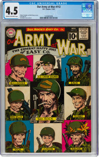 Our Army at War #112 (DC, 1961) CGC VG+ 4.5 Cream to off-white pages