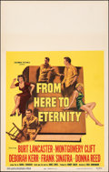 "Movie Posters:Academy Award Winners, From Here to Eternity (Columbia, 1953). Very Fine/Near Mint. Window Card (14"" X 22""). Academy Award Winners.. ..."