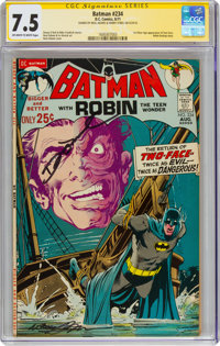 Batman #234 Signature Series: Neal Adams (DC, 1971) CGC VF- 7.5 Off-white to white pages