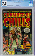 Golden Age (1938-1955):Horror, Chamber of Chills #9 (Harvey, 1952) CGC VF- 7.5 White pages....