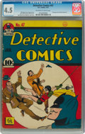 Golden Age (1938-1955):Superhero, Detective Comics #47 (DC, 1941) CGC VG+ 4.5 Off-white to white pages....