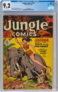 Jungle Comics #110 (Fiction House, 1949) CGC NM- 9.2 Off-white to white pages