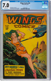 Wings Comics #84 (Fiction House, 1947) CGC FN/VF 7.0 Off-white pages