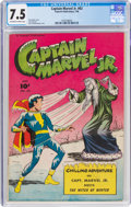 Golden Age (1938-1955):Superhero, Captain Marvel Jr. #63 (Fawcett Publications, 1948) CGC VF- 7.5 Off-white to white pages....