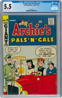 Archie's Pals 'n' Gals #13 (Archie, 1960) CGC FN- 5.5 Off-white to white pages