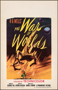 """The War of the Worlds (Paramount, 1953). Very Fine+. Window Card (14"""" X 22""""). Science Fiction"""