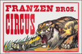 """Movie Posters:Miscellaneous, Franzen Brothers Circus (1970s). Rolled, Very Fine. Poster (42"""" X 28""""). Miscellaneous.. ..."""