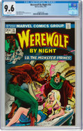 Bronze Age (1970-1979):Horror, Werewolf by Night #14 (Marvel, 1974) CGC NM+ 9.6 White pages....