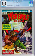 Bronze Age (1970-1979):Horror, Werewolf by Night #19 (Marvel, 1974) CGC NM 9.4 White pages....
