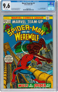 Marvel Team-Up #12 Spider-Man and Werewolf by Night (Marvel, 1973) CGC NM+ 9.6 White pages