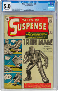 Tales of Suspense #39 (Marvel, 1963) CGC VG/FN 5.0 Off-white pages