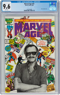 Marvel Age #41 (Marvel, 1986) CGC NM+ 9.6 White pages