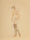 Works on Paper, Alberto Vargas (Peruvian/American, 1896-1982). Follies Girl, 1924. Watercolor and gouache on board. 17-3/4 x 13-1/2 inch...