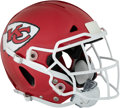 Football Collectibles:Helmets, 2018 Dee Ford Game Worn Kansas City Chiefs Helmet - Photomatched to Two Games!...