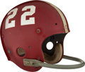 Football Collectibles:Publications, 1972 Barry Smith Game Worn Senior Bowl Helmet....