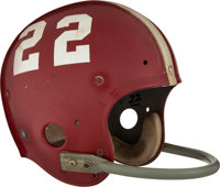 1972 Barry Smith Game Worn Senior Bowl Helmet
