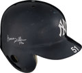 Baseball Collectibles:Others, 2005 Bernie Williams Game Worn & Signed New York Yankees Helmet - Photo Matched to 10-7 vs. Angels with Team Letter. ...