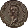 Ancients:Roman Imperial, Ancients: Gaius 'Caligula' (AD 37-41). AE sestertius (35mm, 29.15 gm, 6h). NGC AU 5/5 - 3/5, Fine Style, repatinated....