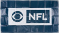 Football Collectibles:Others, c. 2010s CBS NFL Banner....
