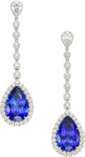 Estate Jewelry:Earrings, Tanzanite, Diamond, Platinum Earrings, Tiffany & Co. . ...
