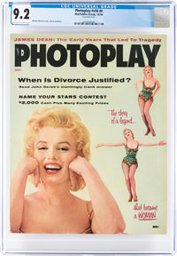Photoplay V50#4 Marilyn Monroe Cover (Macfadden, 1956) CGC NM- 9.2 Off-white to white pages