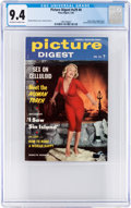 Magazines:Miscellaneous, Picture Digest V29#4 Marilyn Monroe Cover (Plaza Digest, 1956) CGC NM 9.4 Off-white to white pages....