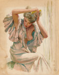 Works on Paper, Edwin Georgi (American, 1896-1964). Nightly Routine. Watercolor on paper. 24 x 18-3/4 inches (61.0 x 47.6 cm) (sheet). S...