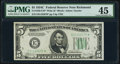 Fr. 1959-E* $5 1934C Wide Federal Reserve Star Note. PMG Choice Extremely Fine 45