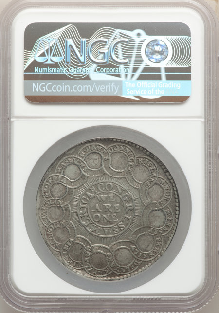 1776 Continental Dollar, CURENCY, Pewter 61 NGC