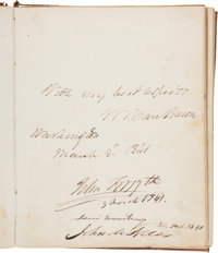 19th Century Autograph Album Signed by President Martin Van Buren, and More than 190 Members of the 26th Congress