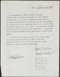 Autographs:Checks, 1948 Bill Rigney Signed Bowman Contract and Check....