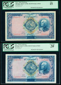 World Currency, Iran Bank Melli 500 Rials ND (1938) / AH1320; AH1321 Pick 37d; 37e PCGS Fine 15; Very Fine 20 .. ... (Total: 2 notes)
