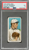 Baseball Cards:Singles (Pre-1930), 1909-11 T206 Hindu-Red Walter Johnson (Hands At Chest) PSA EX 5 - Only Six PSA-Graded Examples! ...