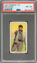 Baseball Cards:Singles (Pre-1930), 1909-11 T206 Piedmont 150 Napoleon Lajoie (Throwing) PSA NM-MT 8 - Pop Three, Two Higher for Brand/Series. ...