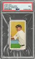 Baseball Cards:Singles (Pre-1930), 1909-11 T206 Uzit Rube Marquard (Follow Through) PSA NM 7 - The Finest of Only Two Confirmed Examples! ...