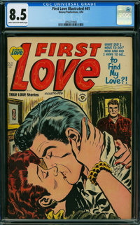 First Love Illustrated #41 (Harvey, 1954) CGC VF+ 8.5 LIGHT TAN TO OFF-WHITE pages