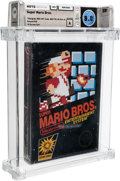 Video Games:Nintendo, Super Mario Bros. [Hangtab, 3 Code, Mid-Production] Wata 8.0 A Sealed NES Nintendo 1985 USA....